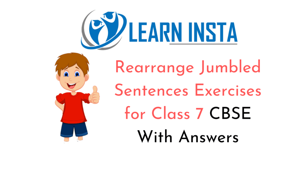 medium resolution of Rearrange Jumbled Sentences Exercises for Class 7 CBSE With Answers