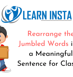 Rearrange the Jumbled Words into a Meaningful Sentence for Class 11 [ 720 x 1280 Pixel ]