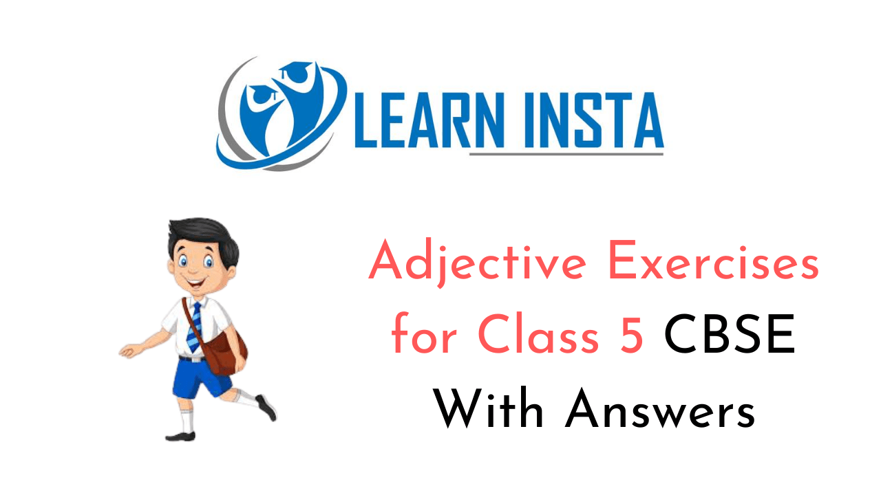 Adjective Exercise for Class 5 CBSE with Answers
