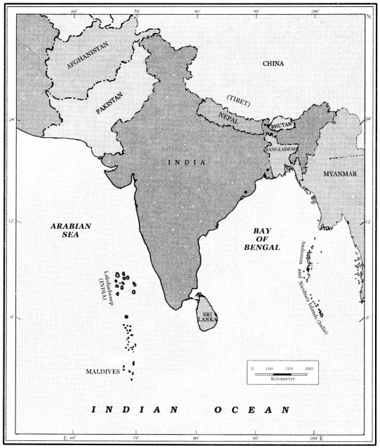 Class 6 Geography Chapter 7 Extra Questions and Answers Our Country India 1