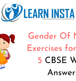 Gender Of Nouns Exercises for Class 5 CBSE With Answers [ 720 x 1280 Pixel ]