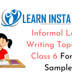Informal Letter Writing Topics for Class 6 Format [ 720 x 1280 Pixel ]