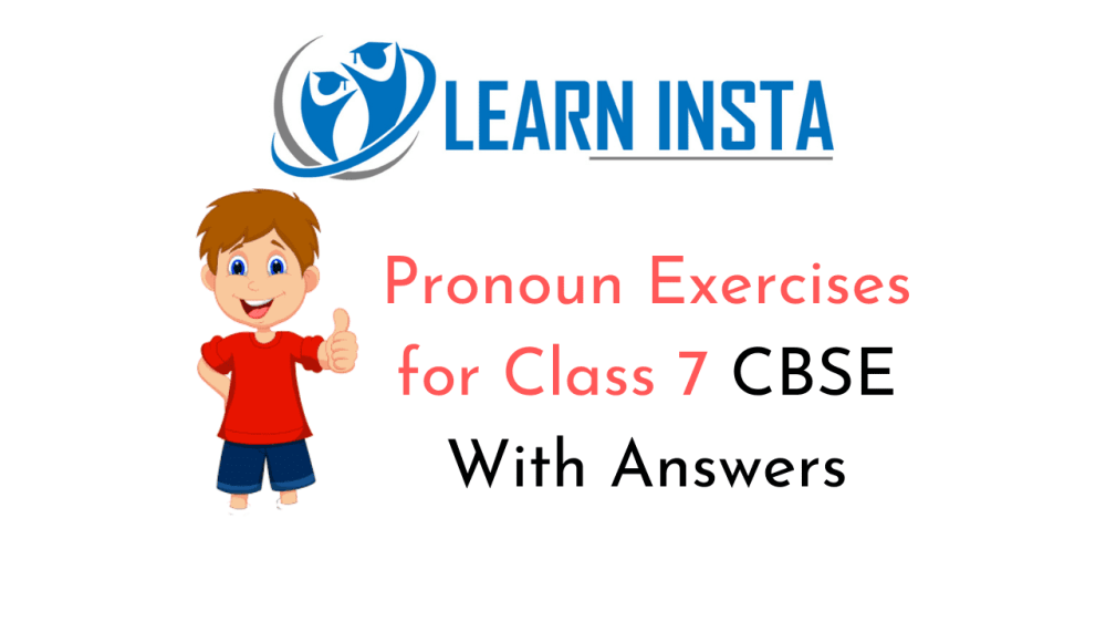 medium resolution of Pronoun Exercises for Class 7 CBSE With Answers