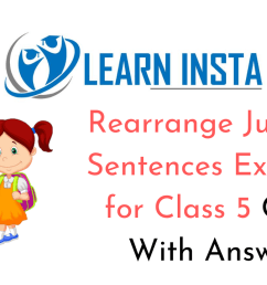 Rearrange Jumbled Sentences for Class 5 CBSE With Answers [ 720 x 1280 Pixel ]