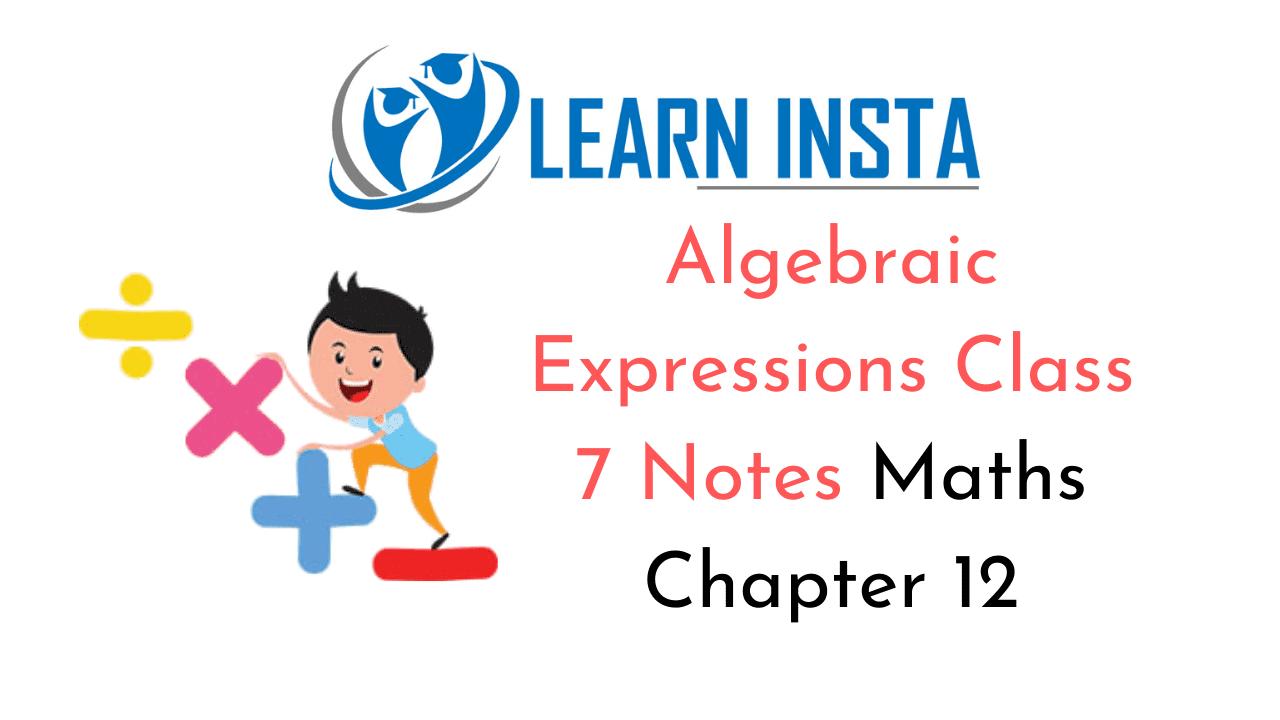 Algebraic Expressions Class 7 Notes