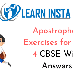 Apostrophe Exercise for Class 4 CBSE With Answers [ 720 x 1280 Pixel ]