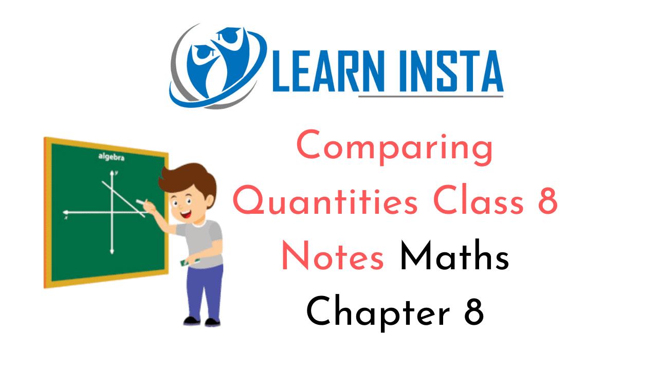 Comparing Quantities Class 8 Notes