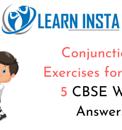 Conjunctions Exercises for Class 5 CBSE with Answers [ 720 x 1280 Pixel ]