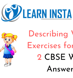 Describing Words Worksheet Exercises for Class 2 Examples with Answers CBSE [ 720 x 1280 Pixel ]