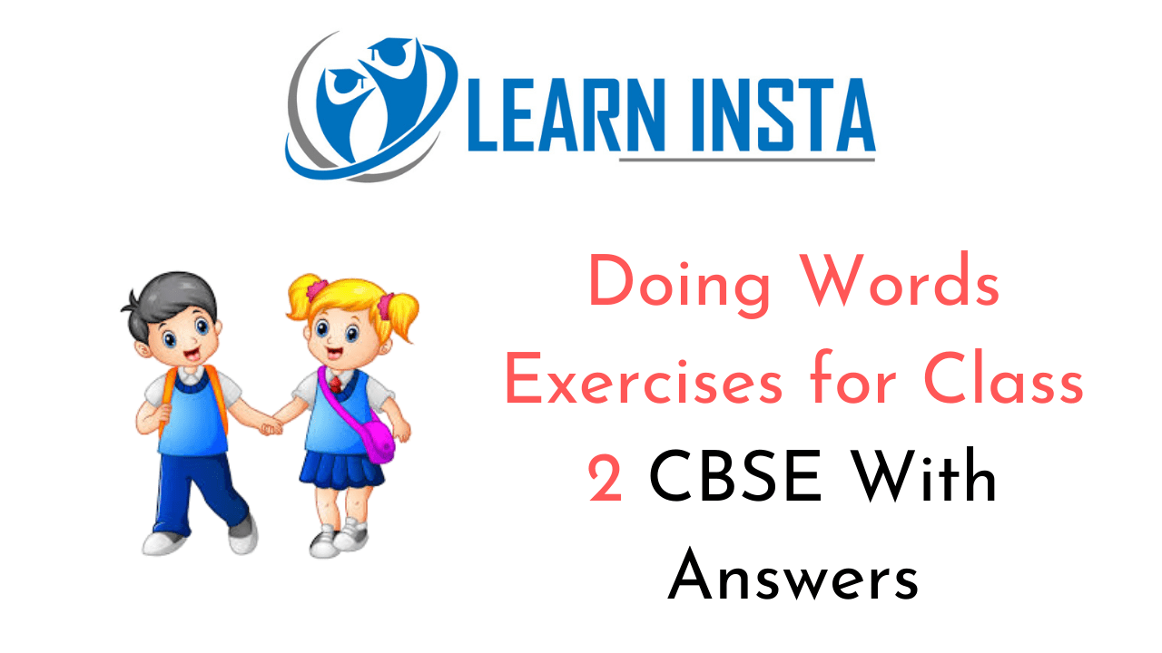 hight resolution of Doing Words Worksheet Exercises for Class 2 Examples with Answers CBSE