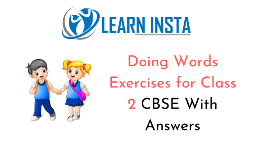 small resolution of Doing Words Worksheet Exercises for Class 2 Examples with Answers CBSE
