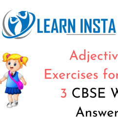 Exercise On Adjectives Worksheet for Class 3 CBSE with Answers [ 720 x 1280 Pixel ]