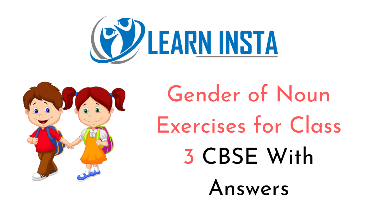 hight resolution of Gender of Nouns Worksheet Exercises for Class 3 CBSE with Answers