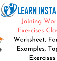 Joining Words Worksheet Exercises for Class 2 Examples with Answers CBSE [ 720 x 1280 Pixel ]