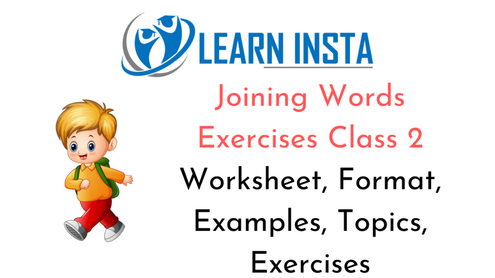 medium resolution of Joining Words Worksheet Exercises for Class 2 Examples with Answers CBSE