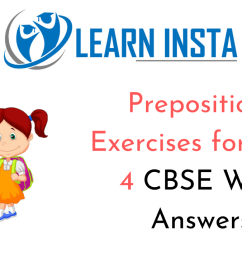 Preposition Exercises for Class 4 CBSE With Answers [ 720 x 1280 Pixel ]