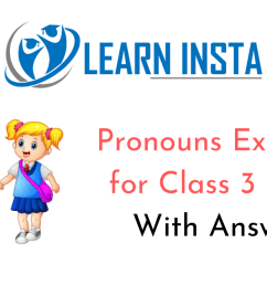 Pronouns Worksheet Exercises for Class 3 CBSE with Answers [ 720 x 1280 Pixel ]