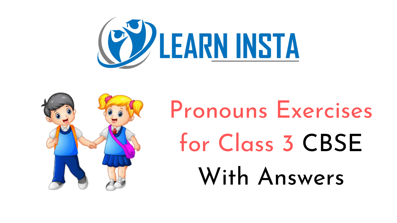 hight resolution of Pronouns Worksheet Exercises for Class 3 CBSE with Answers
