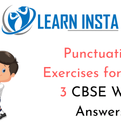 Punctuation Worksheet Exercises for Class 3 CBSE With Answers [ 720 x 1280 Pixel ]