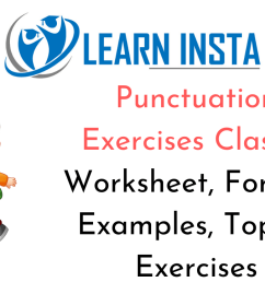 Punctuation Worksheet Exercises for Class 2 Examples with Answers CBSE [ 720 x 1280 Pixel ]