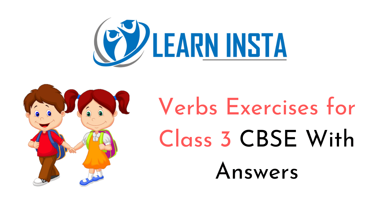 hight resolution of Verbs Worksheet Exercises for Class 3 CBSE with Answers