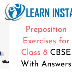 Preposition Exercises for Class 8 CBSE With Answers [ 720 x 1280 Pixel ]