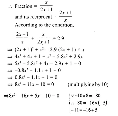 Selina Concise Mathematics Class 10 ICSE Solutions Chapter 6 Solving Problems Ex 6A Q10.1