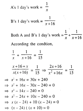 Selina Concise Mathematics Class 10 ICSE Solutions Chapter 6 Solving Problems Ex 6A Q15.1