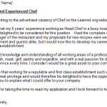 Chef Cover Letter Example