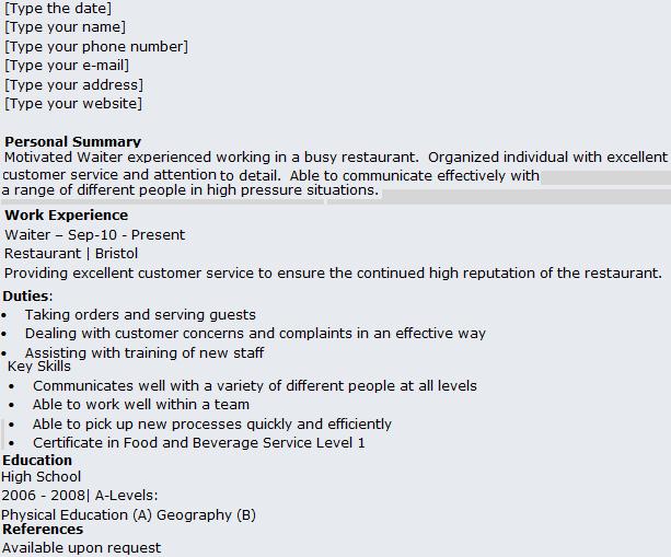 Resume Server Resume Format Download Pdf Reentrycorps Bartender Job  Description Resume Bartender Resume Skills List Job  Server Resume Skills Examples