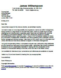 Librarian Cover Letter Example  Learnistorg