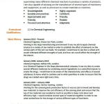 Chemical Engineer CV Example