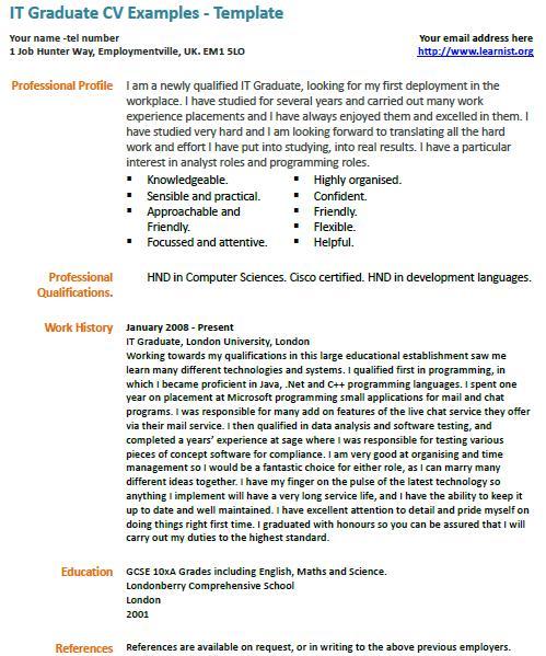 cv template science graduate