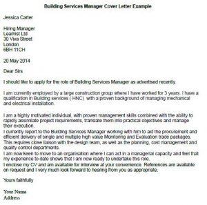 Building Supervisor Cover Letter - Cover Letter Resume Ideas ...