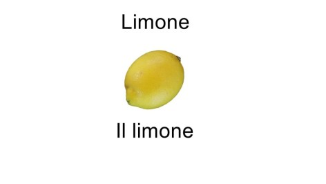 Names of fruits - Il limone
