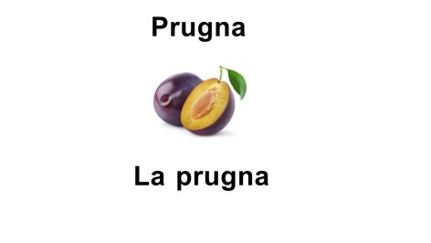 Names of fruits La prugna