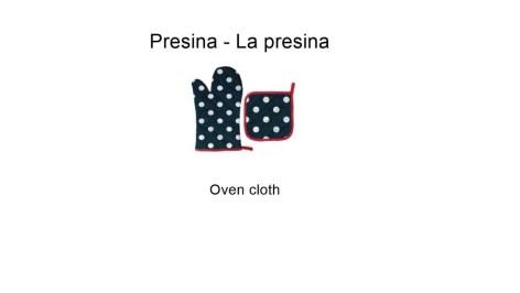 Presina - La presina - Oven cloth