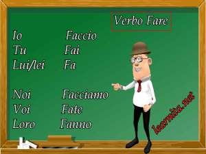 Italian verbs : Fare
