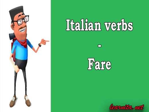 Italian verb fare