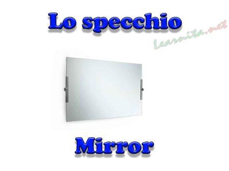 Mirror in italian