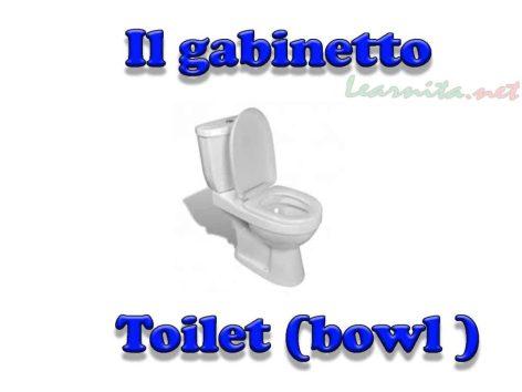 Il gabinetto - Toilet in italian