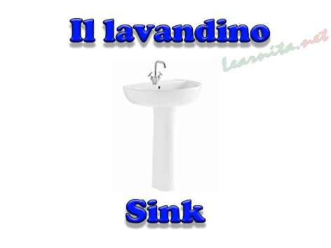 names of bathroom items in italian