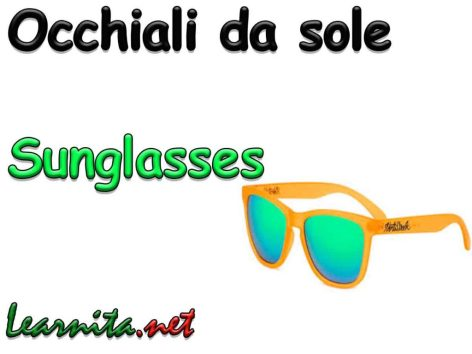 sunglasses in italian - occhiali-da-sole
