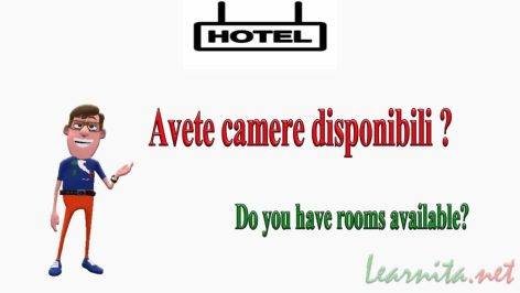 reserving a room in italian