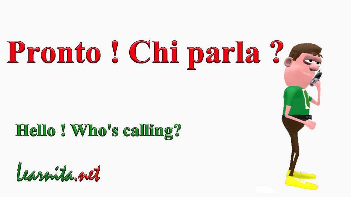 Useful phrases at the phone in italian