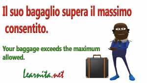 baggage in italian