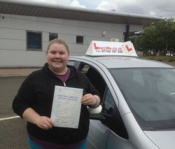 Courtney passes at Sheildhall driving test centre Glasgow.