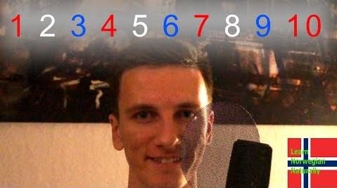 Count to ten in Norwegian