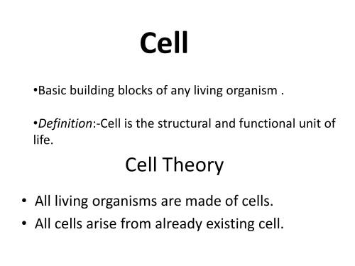 small resolution of IGCSE Grade 6 Biology Cells And Organisation - PowerPoint Slides