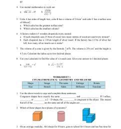 Mathematics Class 8 CIE (Cambridge International Education) - Notes [ 3300 x 2550 Pixel ]